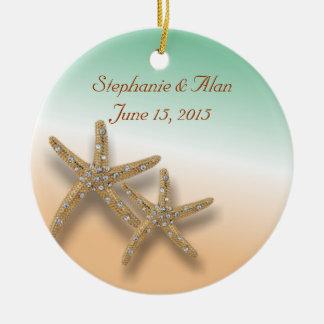 Jewelled Starfish Wedding Ornament