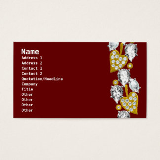 Jewelry-Maroon Business Card