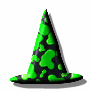 Jewelry - Pin - Witch's Hat Green Slime Photo Sculpture Badge