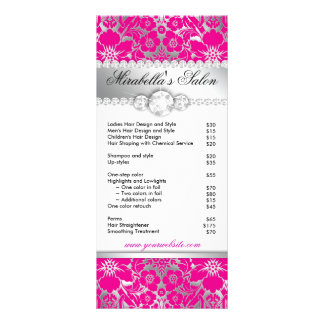 Jewelry Rack Card Floral Damask Pink