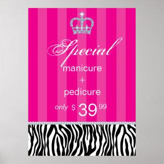 Jewelry Sale Crown Salon Zebra Stripes Posters