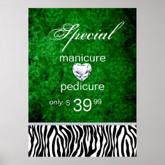 Jewelry Sale Damask Salon Zebra Irish Print