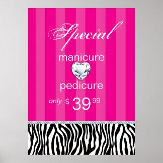 Jewelry Zebra Salon Poster Valentine s Pink