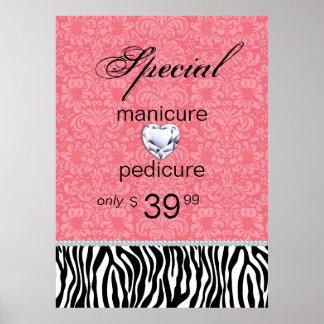 Jewelry Zebra Salon Poster Valentine's Sale