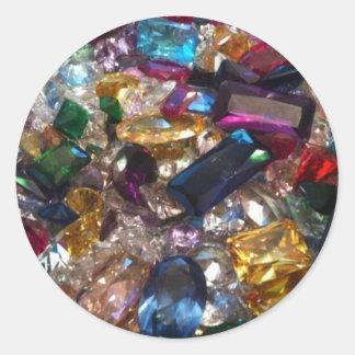 Jewels Classic Round Sticker