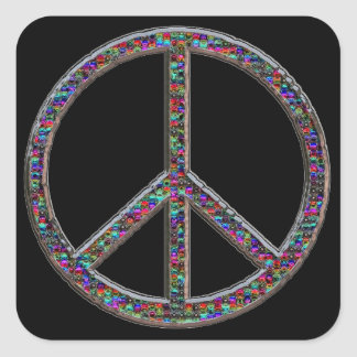 Jewels Peace Sign Stickers