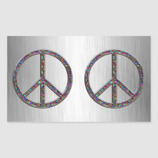 Jewels Peace Signs Stickers