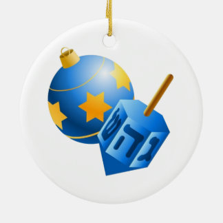 jewish ornament and dreidel
