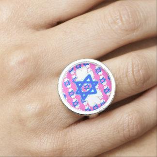 Jewish Star w/ Mitzvah wings, ring