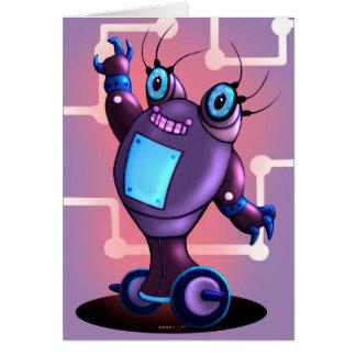JEZEL CUTE ROBOT CARTOON NOTE Card