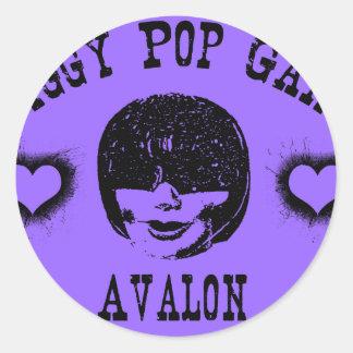 Jiggy Pop Gang Avalon Creepy Grunge Character Classic Round Sticker