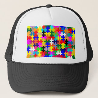 Jigsaw Pieces In Colour Trucker Hat
