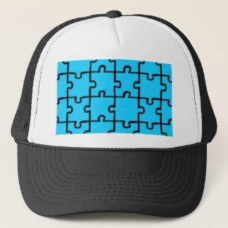 Jigsaw Puzzle Pieces Pattern 3 Trucker Hat