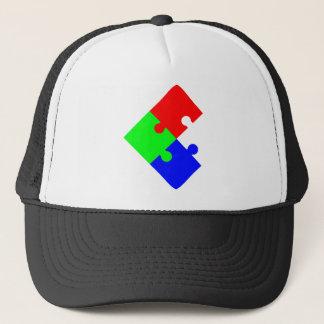 jigsaw puzzle trucker hat