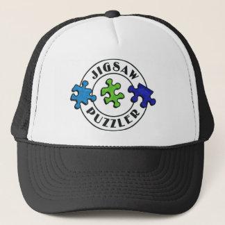 Jigsaw Puzzler clear background Trucker Hat
