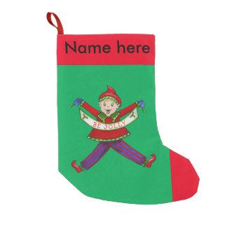 "Jingle Elves, ""Jolly"" Christmas Stocking"