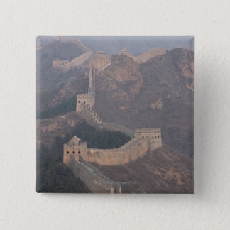 Jinshanling section, Great Wall of China 15 Cm Square Badge