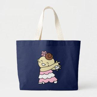 jiyanbototokasutanetsu child white large tote bag