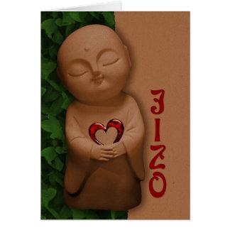 Jizō holding a heart CC0797 Sympathy Greeting Card