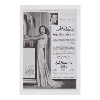 Joan Crawford Adrien gown Silk advertisement Poster