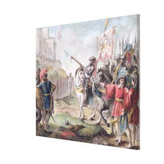 Joan of Arc (1412-31) Orders the English to Leave Canvas Print