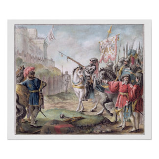 Joan of Arc (1412-31) Orders the English to Leave Poster