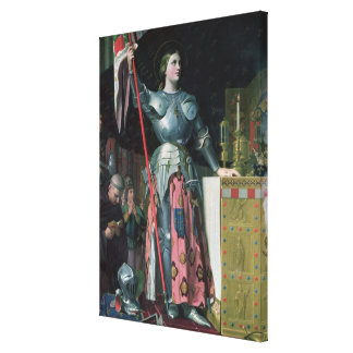 Joan of Arc  at the Coronation of King Charles Canvas Print