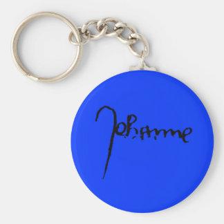 Joan of Arc Signature Key Ring
