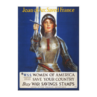 Joan of Arc World War I Buy War Saving Stamps Canvas Print