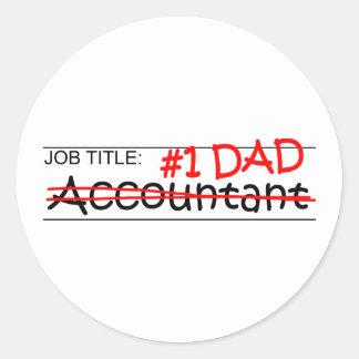 Job Dad Accounting Classic Round Sticker