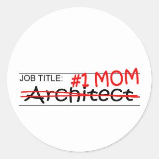Job Mom Accountant Classic Round Sticker