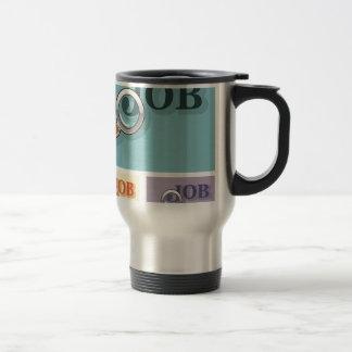 Job search under magnifying glass Vector illustrat Travel Mug
