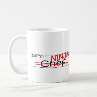 Job Title Ninja Chef Coffee Mug