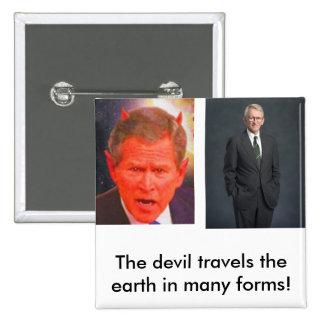 joe riley, SATAN, The devil travel... - Customized Pinback Buttons