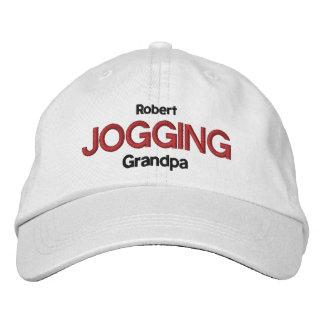 JOGGING GRANDPA Personalized Adjustable Hat V05 Embroidered Baseball Caps