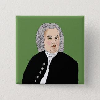 Johann Sebastian Bach 15 Cm Square Badge