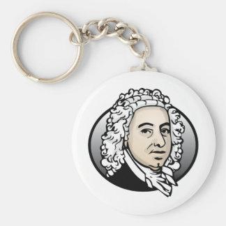 Johann Sebastian Bach Basic Round Button Key Ring