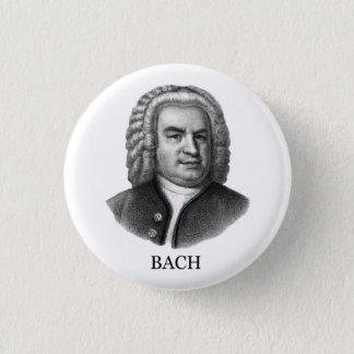 Johann Sebastian Bach, black 3 Cm Round Badge
