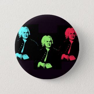 Johann Sebastian Bach Collage 6 Cm Round Badge
