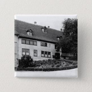 Johann Sebastian Bach's  house 15 Cm Square Badge
