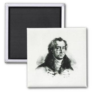 Johann Wolfgang Goethe  engraved by Delacroix Magnet
