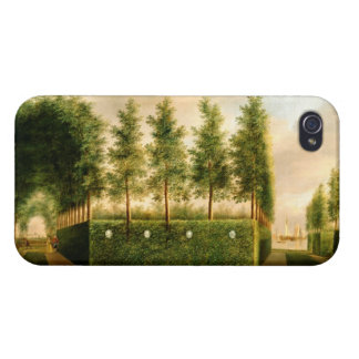 Johannes Janson A Formal Garden Vintage Painting iPhone 4 Covers