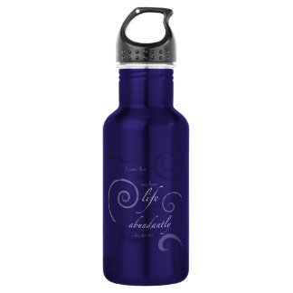 John 10:10 - Choose your own color! Customizable 532 Ml Water Bottle