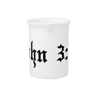 john 3:16 christian bible verse beverage pitcher