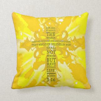 John 3:16 cushion
