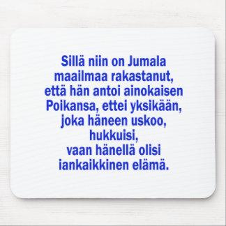 John 3:16 Finnish Mouse Pad