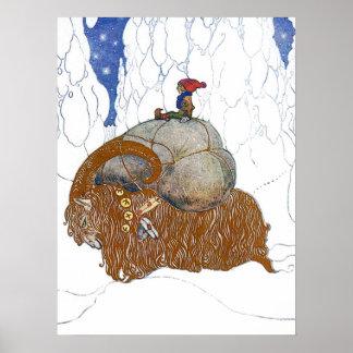 John Bauer The Christmas Goat Poster