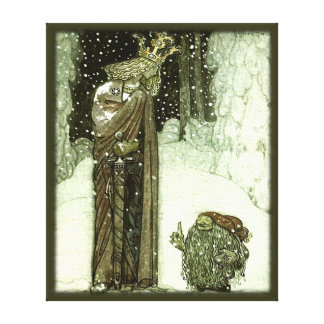 John Bauer The Princess and the Troll Stretched Canvas Print