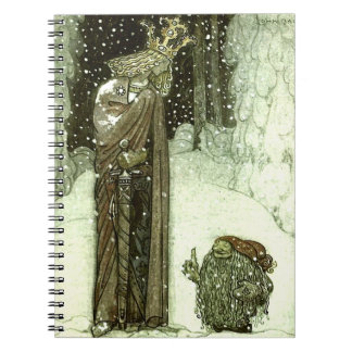 John Bauer The Princess and the Troll Spiral Note Book