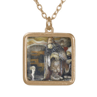 John Bauer Troll Gold Plated Necklace